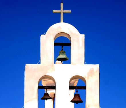 Bells at Mission Church in Arizona
