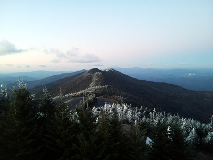 Mt. Craig and the Black Mountains ridge from the Mt. Mitchell summit trail.