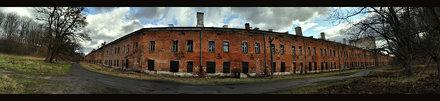 Modlin, barracks, pano, HDR