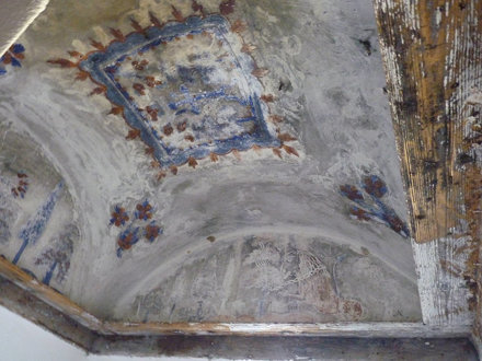Meteora - monastery of Agia Triada, cell ceiling fresco
