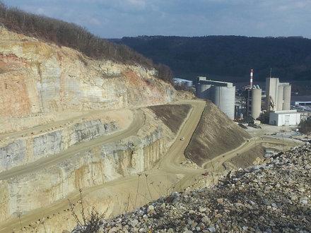 The concrete plant