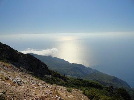 Blick nach Südosten übers Meer gen Türkei