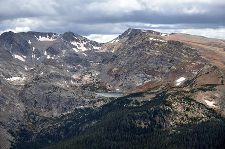 Mountain Peaks and Lakes Along the Continental Divide (Rocky Mountain National Park)