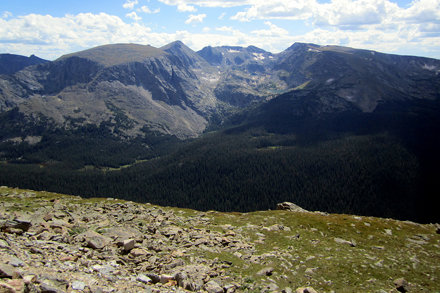 Colorado - Rocky Mountain National Park: View from Rock Cut Overlook