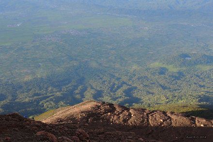 The view from Mt Kerinci