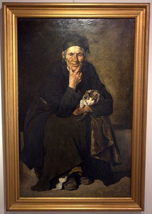 """Old woman with kitten"", Georgios Roilos"