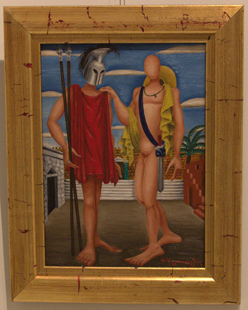 """Orestes and Pylades, 1952"", Nikos Engonopoulos"