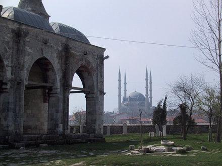 The Selimiye seen from the Muradiye, outside Edirne, Turkey