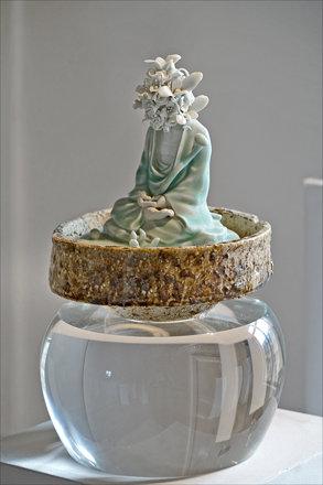 Arhat, sculpture de Ru Xiao Fan (Musée Guimet / MNAAG, Paris)