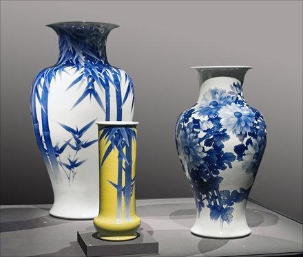 Vases de Miyagawa Kozan (Musée Guimet, Paris)