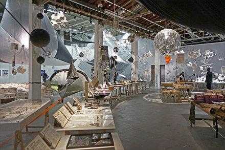FabLab de l'exposition de Tomás Saraceno au Palais de Tokyo (Paris)