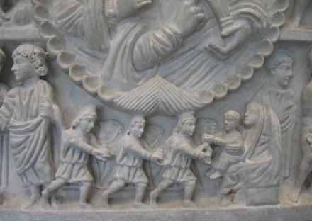Adorazione dei Magi : una delle piu' antiche rappresentazioni che risale all'eta' Cos