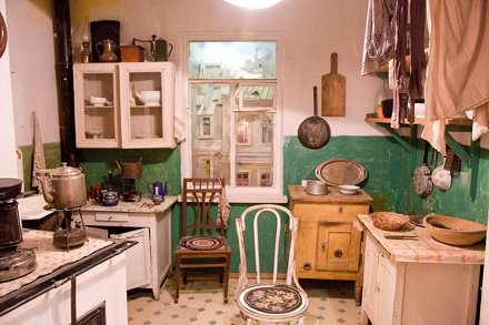 Communal apartment kitchen, Museum of Political History, St. Petersburg