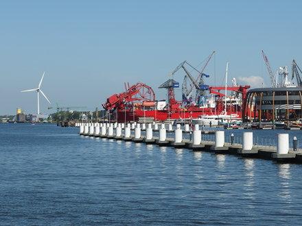 Wind turbine @ NDSM Wharf @ Amsterdam