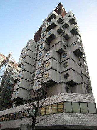 黒川紀章・中銀カプセルタワービル Nakagin Capsule Tower, tokyo, Kisho Kurokawa