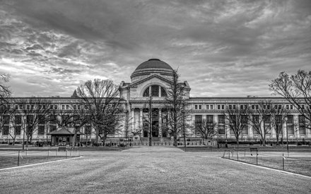 National Museum of Natural History in black and white