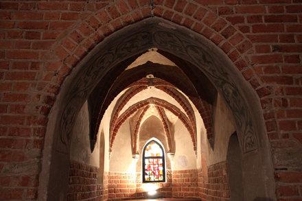 Sklepienie kaplicy na zamku w Nidzicy