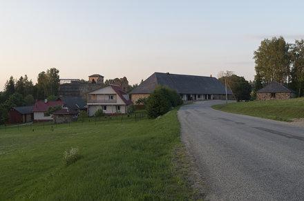 Vaade Vastseliina piiskopilinnuse varemeisse, 25.06.2016.