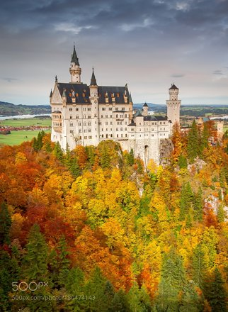 Neuschwanstein in the Fall