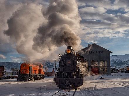 Steam at sunrise