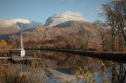Caledonian Canal and Ben Nevis