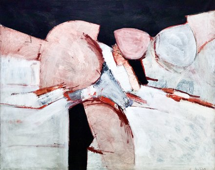 Painting Black and White with Pink (1960) - Adrian Heath (1920-1992)