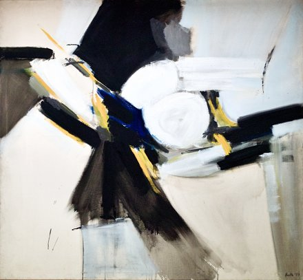 Painting Black an d White with Yellow (1959) - Adrian Heath (1920-1992)