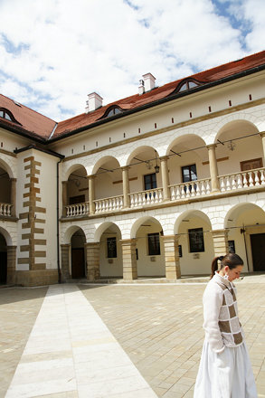 The courtyard of Niepolomice Castle