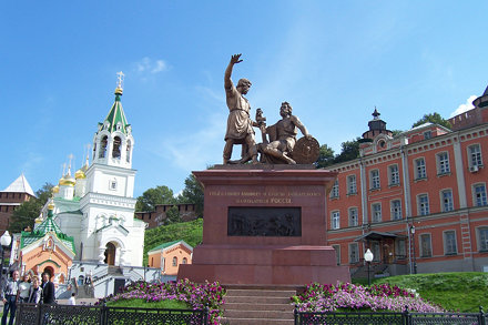 Replica of the statue which stands on Red Square