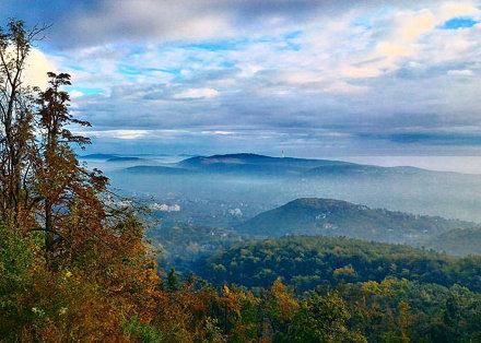 Normafa reggel #autumn #morning #foggy #fussteis
