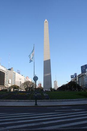 The Obelisk in  Plaza de la Republica, Buenos Aires