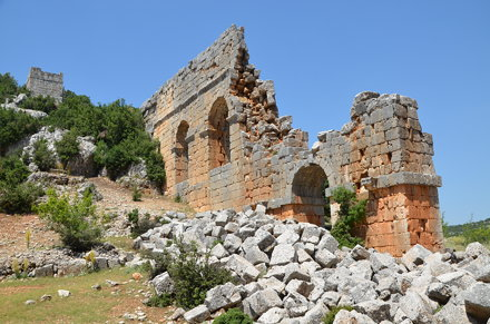 The double tier aqueduct of Olba, commissioned by Septimius Severus in 199 AD, it  underwent repairs