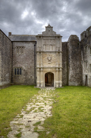 Old Beaupre Castle Porch from Inner Court