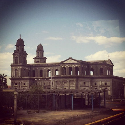 "Managua ""old"" cathedral, now in ruins. near the epicenter of the terrible 1972 earthquake"