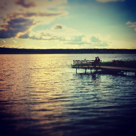 Круглое #озеро #отражения #романтика #облака #лобня #вода #небо