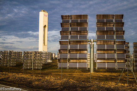 Concentrating solar power at sunrise!