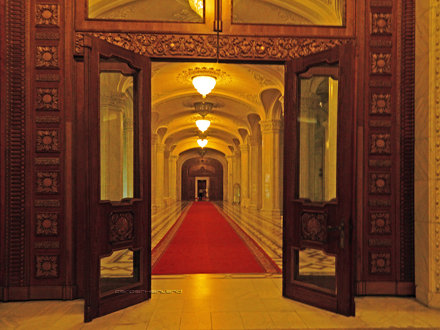 Inside Parliament Palace, Bucharest