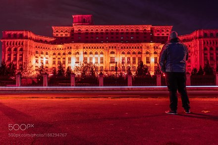 Alone at Romanian Palace of Parliament