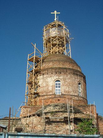 Глинково. Реставрация храма