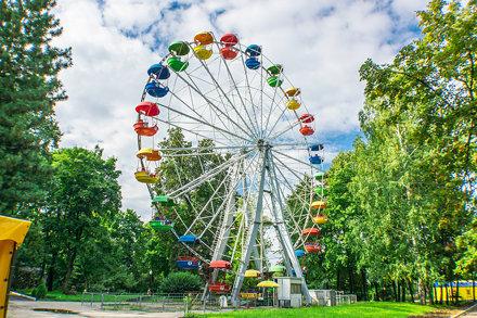 Penza. Ferris wheel in the park Belinsky