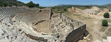 Древний ликийский город Патара, Турция (Панорамный вид)