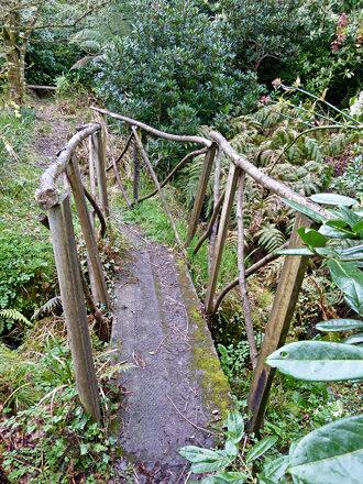 Over the rickety bridge