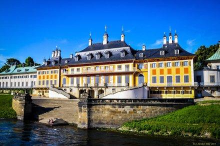 Dresden, Schloss Pillnitz, Wasser Palais, elbseitig
