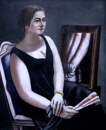 IMG_0551A Max Beckmann 1884-1950 Germany Bildnis Minna Beckmann-Tube  Portrait of Minna Beckmann- Tu