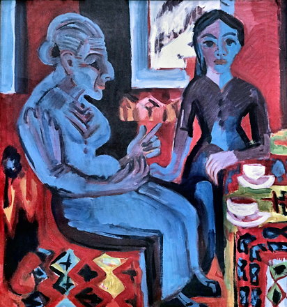IMG_0554AN Ernst Ludwig Kirchner 1880-1938 Germany Paysanne avec enfant Bäuerin mit Kind Peasant wom