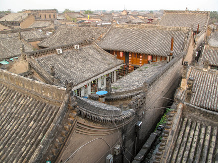 Old chinese rooftops