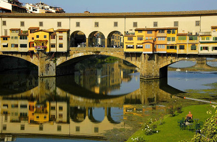 relax in river to the Arno