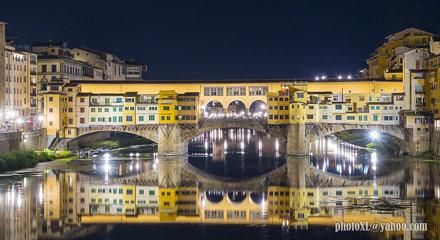 el ponte vecchio a la nit