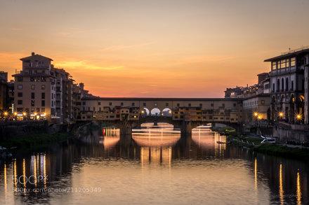 Ponte Vecchio during sunset, Firenze