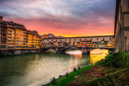 Ponte Vecchio Sunset - Florence, Italy